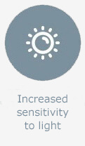 Increased sensitivity to light