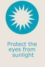 Protect the eyes from sunlight